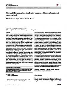 Diel turbidity cycles in a headwater stream: evidence of nocturnal ...