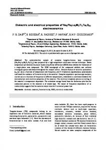 Dielectric and electrical properties of ... - Springer Link