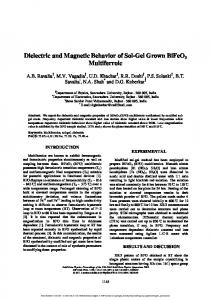 Dielectric and Magnetic Behavior of Sol-Gel Grown ...