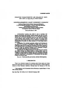DIELECTRIC CHARACTERISTICS AND RELIABILITY TESTS FOR ...