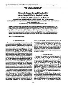 Dielectric Properties and Conductivity of Ag-Doped ... - Springer Link