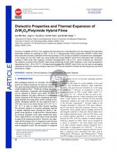 Dielectric Properties and Thermal Expansion of ...