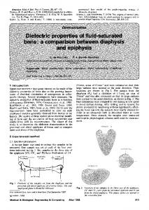 Dielectric properties of fluid-saturated bone: a ... - Springer Link