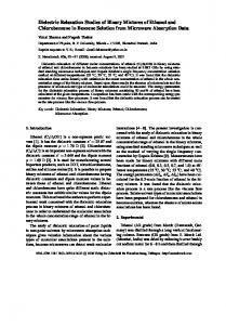 Dielectric Relaxation Studies of Binary Mixtures of