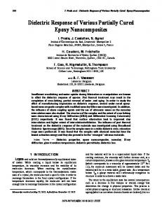 Dielectric Response of Various Partially Cured Epoxy ... - IEEE Xplore