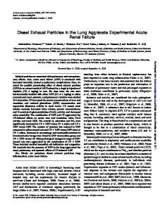 Diesel Exhaust Particles in the Lung Aggravate ...