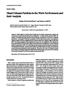 Diesel Exhaust Particles in the Work Environment and ... - CiteSeerX