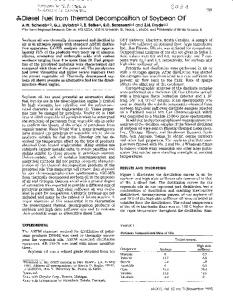 Diesel Fuel from Thermal Decomposition of Soybean ... - PubAg - USDA