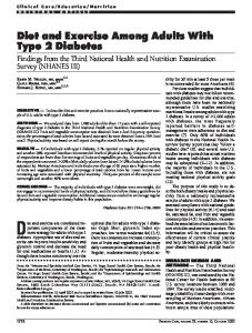 Diet and Exercise Among Adults With Type 2 Diabetes - CiteSeerX