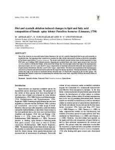 Diet and eyestalk ablation induced changes in lipid ...
