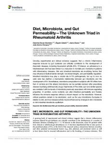 Diet, Microbiota, and Gut Permeability—The Unknown