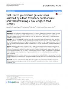 Diet-related greenhouse gas emissions assessed ... - Semantic Scholar