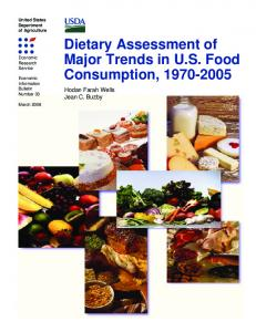 Dietary Assessment of Major Trends in US Food ... - AgEcon Search