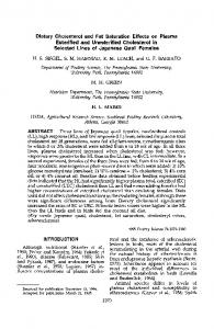 Dietary Cholesterol and Fat Saturation Effects on Plasma Esterified ...