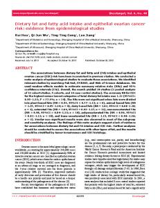 Dietary fat and fatty acid intake and epithelial ... - Semantic Scholar