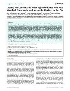 Dietary Fat Content and Fiber Type Modulate Hind ... - Semantic Scholar