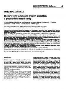 Dietary fatty acids and insulin secretion: a population-based ... - Nature