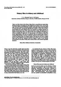 Dietary fibre in infancy and childhood