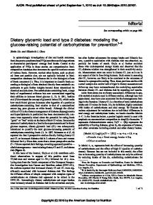Dietary glycemic load and type 2 diabetes: modeling the ... - UCLA.edu