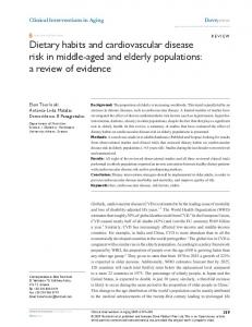Dietary habits and cardiovascular disease risk in middle ... - CiteSeerX