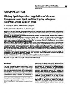 Dietary lipid-dependent regulation of de novo lipogenesis ... - CiteSeerX