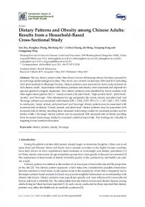 Dietary Patterns and Obesity among Chinese Adults