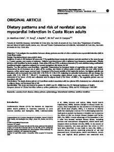 Dietary patterns and risk of nonfatal acute myocardial infarction in