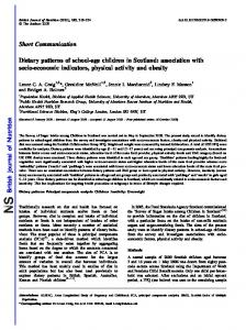 Dietary patterns of school-age children in Scotland: association with ...