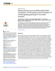 Dietary protein sources differentially affect ... - Semantic Scholar