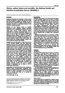 Dietary sodium intake and mortality: the National Health and Nutrition ...