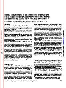 Dietary sodium intake is associated with total fluid and ...