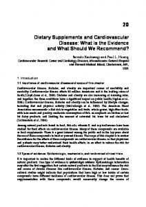 Dietary Supplements and Cardiovascular Disease