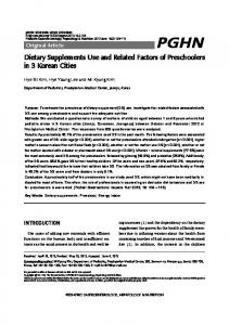 Dietary Supplements Use and Related Factors of