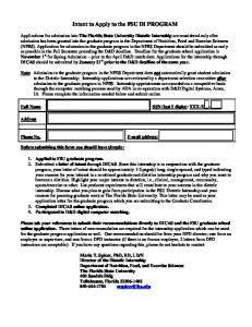 dietetic internship form