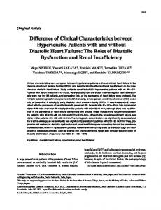 Difference of Clinical Characteristics between Hypertensive ... - Nature
