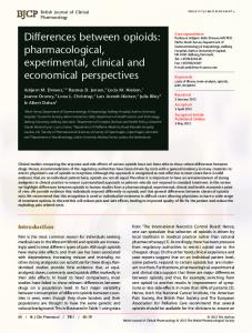 Differences between opioids: pharmacological ... - Wiley Online Library