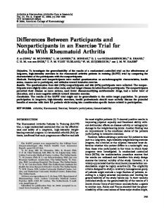 Differences between participants and ... - Wiley Online Library