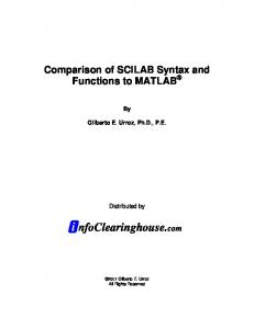 differences between Scilab and Matlab