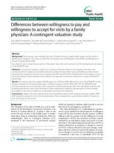 Differences between willingness to pay and willingness to accept for ...