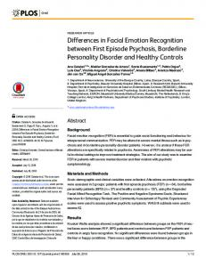 Differences in Facial Emotion Recognition ... - Semantic Scholar