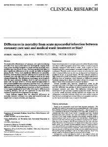 Differences in mortality from acute myocardial infarction between ...