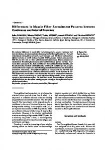 Differences in Muscle Fiber Recruitment Patterns ... - Semantic Scholar