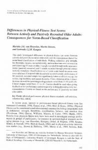 Differences in Physical-Fitness Test Scores Between