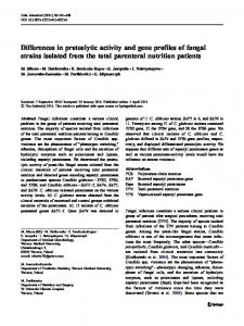Differences in proteolytic activity and gene profiles of ... - Springer Link