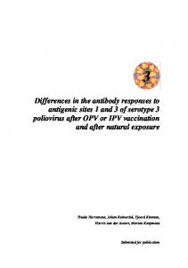 Differences in the antibody responses to antigenic ...