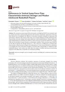 Differences in Vertical Jump Force-Time Characteristics ... - MDPI
