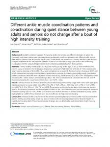Different ankle muscle coordination patterns and co ... - CiteSeerX