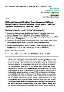 Different Choices of Drinking Water Source and