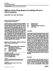Different course of lung disease in two siblings with