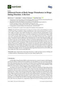 Different Facets of Body Image Disturbance in Binge Eating ... - MDPI
